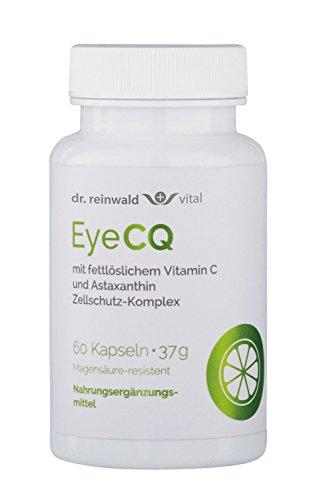 dr.reinwald EyeCQ - Das erste fettlösliche Vitamin C - Antioxidativer Zellschutz-Komplex mit Vitamin C & Astaxanthin - Bei Stress, erhöhter Belastung der Augen u.v.m. - 60 Kapseln