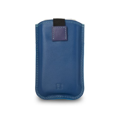Custodia iPhone SE/5S/4S in pelle multicolore con Pull Up di DUDU Blu