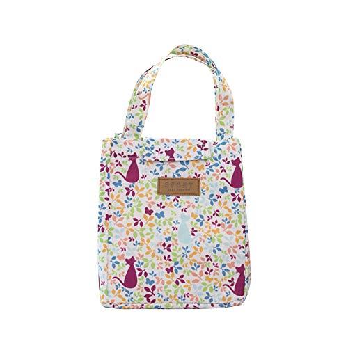 KonJin Lunch Tasche Kleine Kühltasche Lunch Tasche Isoliertasche zur Arbeit und Schule gehenn Minikühltasche Snacktasche Lunch Bag