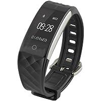 Ksix Fitness Band HR - Pulsera de Actividad con Monitor Deportivo y Bluetooth Compatible con Smartphone
