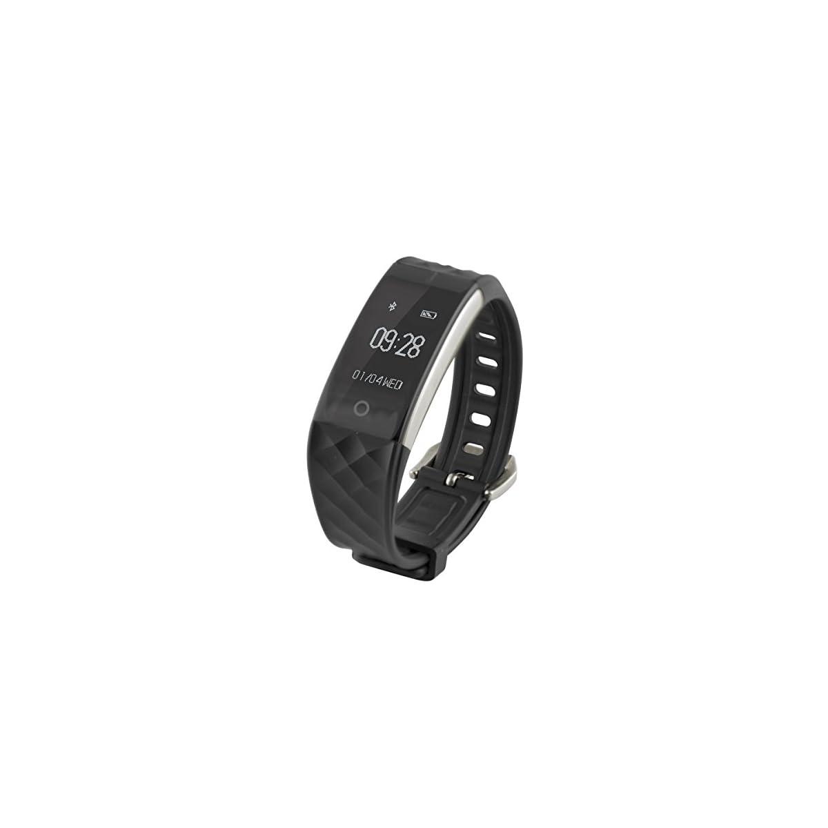 41uDqImJMvL. SS1200  - Ksix Fitness Band HR - Pulsera de Actividad con Monitor Deportivo y Bluetooth Compatible con Smartphone, Color Negro