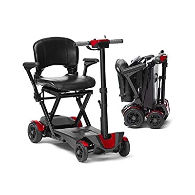 Drive DeVilbiss 4 Wheel Auto Folding Scooter -Lightweight Folding Power Scooter - 4 Wheel Motorized Scooter - Mobility Scooter for Adults