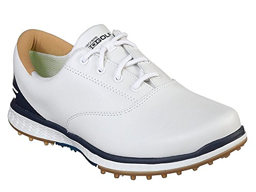 Skechers 2018 GO GOLF Elite 2 Womens Spikeless Leather Shoes 14866 White/Navy 6UK