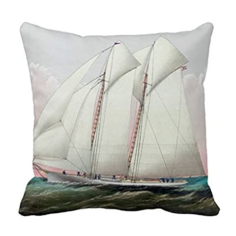 The Schooner Yacht Magic Of The New York Yacht Throw R917085aa20fa49519b36af312af66713 I5fqz 8byvr Pillow Case