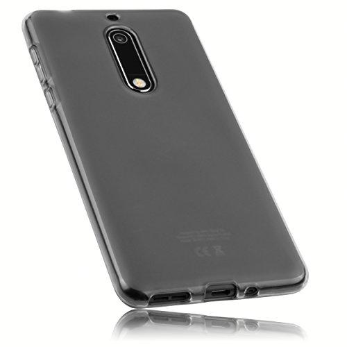 mumbi Schutzhülle für Nokia 5 Hülle transparent schwarz