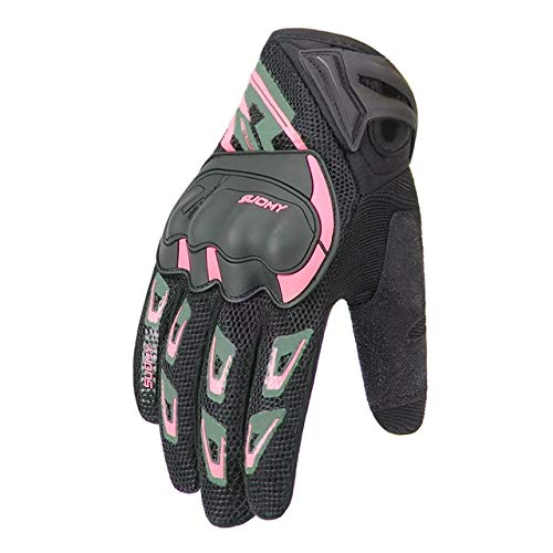 Bruce Dillon Motorcycle Gloves Cycling Gloves Gloves Breathable Motorcycle Full Finger Waterproof and Windproof Winter -Pink X XXL -