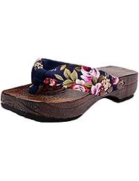 cd0eeb52d0eaeb DEELIN Women s Shoes Beach Shoes Mid Heel Platform Shoes Wood Outdoor  Sandals Clog Wooden Comfortable Home