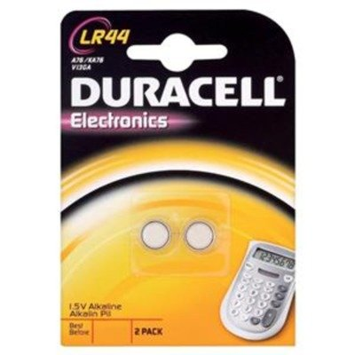 Duracell LR44 Alkaline 1,5 V non-rechargeable battery – non-rechargeable Batteries (Alkaline, 1,5 V, 11,6 mm, 5.4 mm, 11,6 mm)