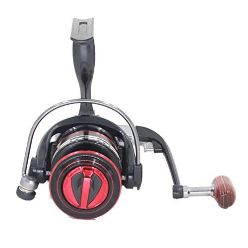 TAOHOU Ruota Full Metal a 13 Assi Full Metal Head Mulinello da Pesca Ruota da Pesca Red & Black 2000
