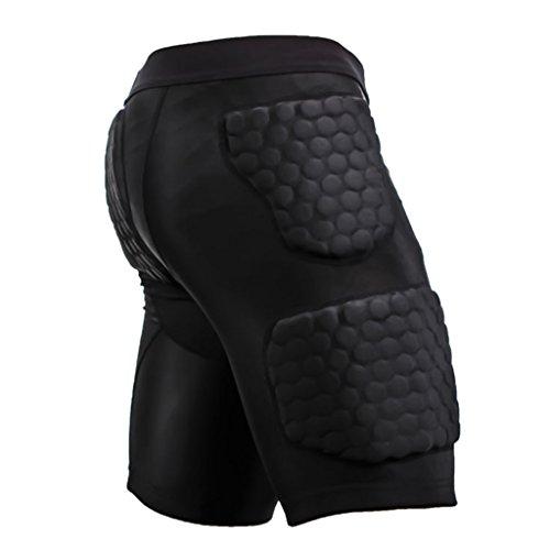 Generic Für Herren / Männer Protektorenhose Anti-Verletzung Kompression Hosen Sport Shorts Schutzhosen - XL