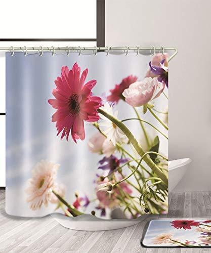 Ferza home natura fiori tenda doccia tenda doccia di stampa 3d resistente all'acqua con tenda impermeabile di bagni parentesi quadre (11) dimensioni (color : b, size : 180 * 200cm)