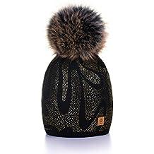MFAZ Morefaz Ltd Winter Cappello Cristallo Grand Pom Pom Invernale di Lana  Berretto delle Signore delle 0cefc4c12412