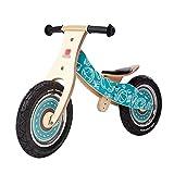 Laufrad Holzrahmen, für 2-6 jährige Jungen Mädchen, verstellbares Sitzrad aus Holz (Farbe : Style2)