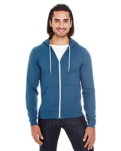 Apparel Alternative Sweatshirt (Unisex Flex Fleece Zip Hoodie SEA BLUE S)
