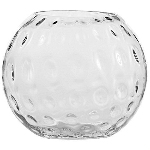 Vase XXL Deko Blumenvase Famous Bubble D 30 cm H 25 cm Hochwertiges Glas Moderner Zeitloser Style Tischvase