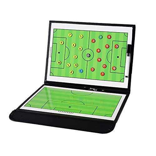 5f4bf03d69c MOLPE Carpeta Pizarra Fútbol Táctica Tablero de Entrenamiento Entrenador  Magnéticas de Fútbol Portátil Profesional con Imanes