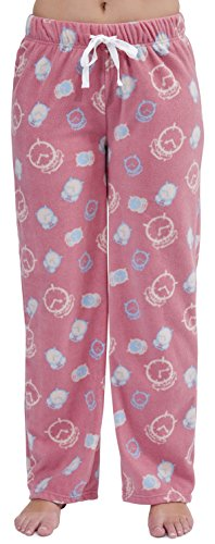 Damen Fleece Schlafanzug Sleep ZZZ Lounge Pants Hose Pink Blau Größe 8 10 12 14 16 18 Gr. Small, rose (Blaue Sleep-pant Damen)