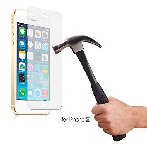 Acelive iPhone SE Panzerglas, Gehärtetem Glas Schutzfolie Displayschutzfolie Folie für iPhone SE 5S 5 5C (iPhone SE)