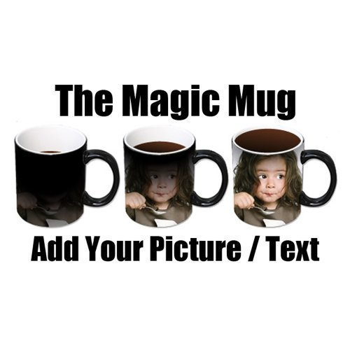 2 X Personalised Colour Changing Coffee Mug Cup YOUR PHOTO & TEXT Magic Mug WOW by PersonaliseItOnline Wow Mug