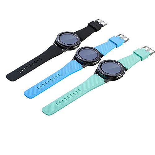 WEINISITE 22mm Soft Silicone Replacement Watch Bracelet Strap for Samsung Gear S3-Gear S3 Frontier / Classic Watch Band (#5)