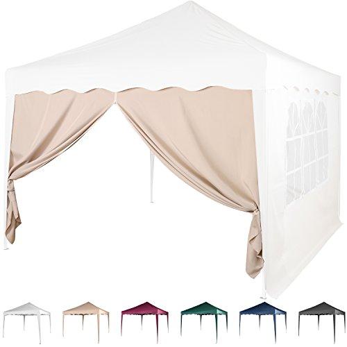 Maxstore Seitenwand/Seitenteil für Pavillon 3x3m, mit Reißverschluss, Farbwahl Weiß Champagner...