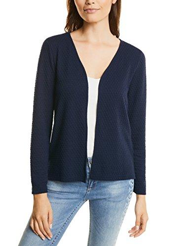 Street One Short Structured Jacket, T-Shirt Donna Blau (Night Blue 10109)