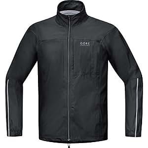 Gore Running Wear Homme Veste de Course Imperméable et Légère, Gore TEX Active, Essential GT As, Taille S, Noir, JGMESS990003