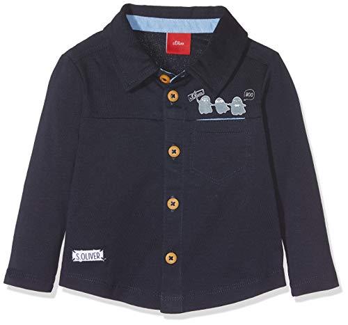 s.Oliver Baby-Jungen Poloshirt 65.808.35.5926, Blau (Dark Blue 5876), 80