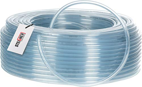 STEIGNER Benzinschlauch Wasserschlauch PVC Schlauch Transparent, Durchmesser: 7-9 mm, Länge: 10 m, SBS-09-10