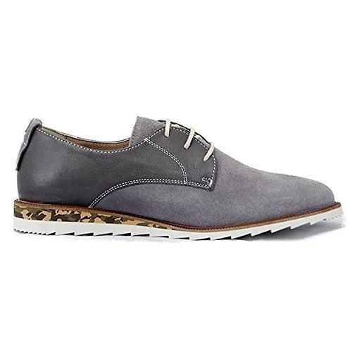 NOBRAND, Chaussures basses homme lacets gris Gris Gris - Gris
