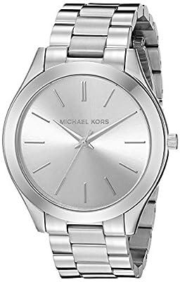 Michael Kors MK3178 - Reloj con correa de titanio para mujer, color plateado / gris