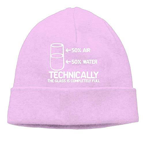 Preisvergleich Produktbild Momens Technically The Glass is Completely Science Sarcasm Fashion Street Dance Black Beanies Cap Hat