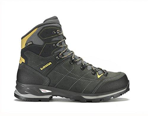 Lowa Vantage GTX Mid, Stivali da Escursionismo Alti Uomo 9750 Antracite/Yellow