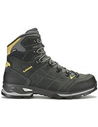 Lowa Vantage GTX Mid - Botas de montaña para hombres, color antracita / amarillo, talla 43.5