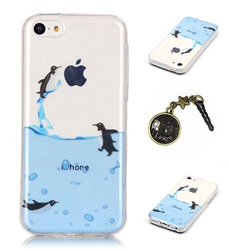 TPU Silikon Schutzhülle Handyhülle Painted pc case cover hülle Handy-Fall-Haut Shell Abdeckungen für Smartphone Apple iPhone 5C +Staubstecker (10FM) 2