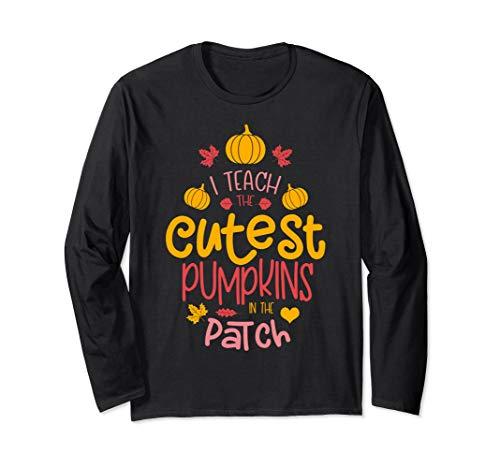Kostüm Halloween Lehrer - Halloween Kostüm Lehrer unterrichte die schönsten Kürbisse Langarmshirt