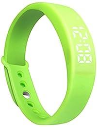 W5tiempo real visualización de temperatura pulsera inteligente reloj USB de carga reloj de pulsera deportivo Verde