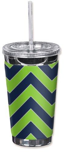 Mugzie ® Marke To Go Becher mit isolierten Neoprenanzug Bezug-Football-Seattle Chevron Farben - Seattle Seahawks-schmuck
