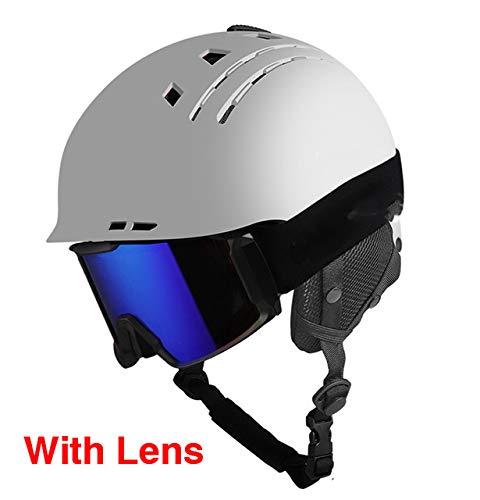 DGHHUFAHF Fahrradhelm Skihelm Sport Sicherheit Ski Snowboard Helm Ultraleicht Atmungsaktive Winter Skateboard Helm Für Männer Frauen 58-60 cm