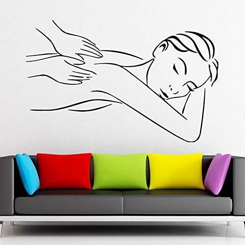 Nagel Bar Salon Aufkleber Mädchen Spa Aufkleber Massage Schönheit Poster Vinyl Wandtattoos Dekor Wandbild Nagelstudio Aufkleber 58X92CM