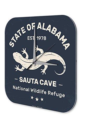 Alabama Acryl (Wanduhr Tierarzt Praxis Deko Eidechse Alabama Acryl Dekouhr Vintage)