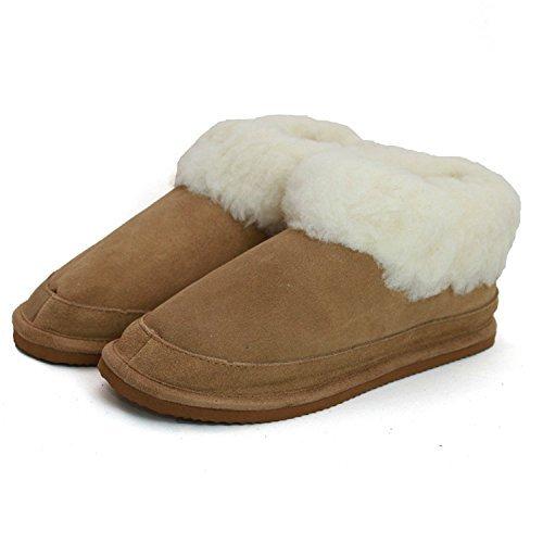 peau-de-mouton-daim-chaussons-bottines-avec-melange-laine-doublure-and-solide-anti-derapant-semelle-