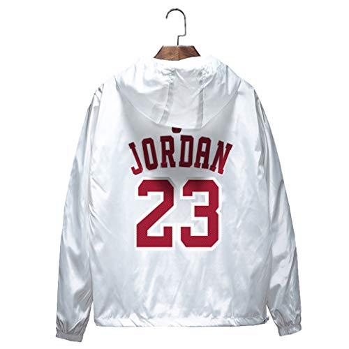 Chicago Bulls Michael Jordan Homme Basket-ball Sports Survêtement Manches Longues Zipper Sweat à Capuche Automne Printemps