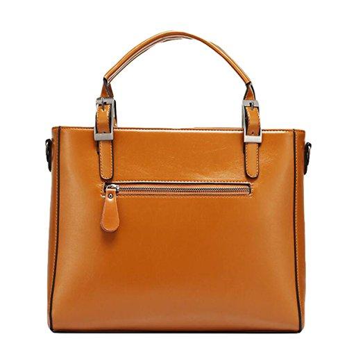 Handtasche Schultertasche Messenger Bag Big Bag Handtasche Motorrad-Tasche Mode Yellow