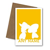 PERSONALISED Woody & Jessie Greetings Card. For Husband, Wife, Boyfriend, Girlfriend, Couple. Wedding, Anniversary, Engagement, Birthday, Valentines Day, I love you. Disney Toy Story Cowboy Cowgirl