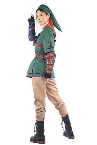 Pandacos Link Kostüm Cosplay Costume Set aus Zelda Anime Accessories für Karneval und ()