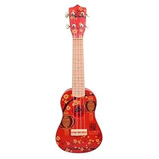 Asdomo Ukulele 23-Zoll Soprano-Anfänger-Set für Gitarren Saiten Musikinstrumente Hawaii-Ukulele für Kinder Kids Mädchen Jungen Schüler und Anfänger, plastik, Rot (Red Plum), 23x7x3 inch