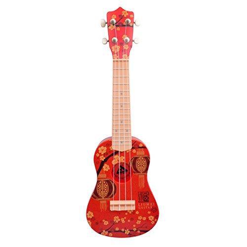 Asdomo Ukulele 23-Zoll Soprano-Anfänger-Set für Gitarren Saiten Musikinstrumente -