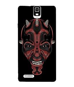 Fuson Designer Back Case Cover for Infocus M330 (Thorns Devil God Evil Mask Fire)