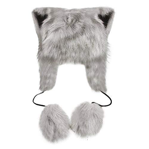 Gorro Animal Mujer Invierno Manta Suave Piel sintética